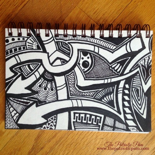 zentangle, tangle art, drawing, doodling, sharpie art