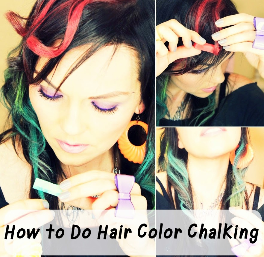 Hair Color How To: Hair Chalking