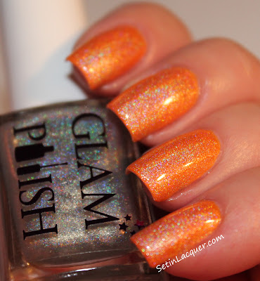 Glam Polish - Fawn with top coat of Gliss