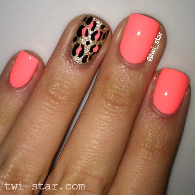 Twi star nail art blog color club east austin leopard spots color club east austin is a neon coral peach creme formula was a bit wonky kinda thick but streaky i used 3 coats next time i will add some thinner to prinsesfo Gallery