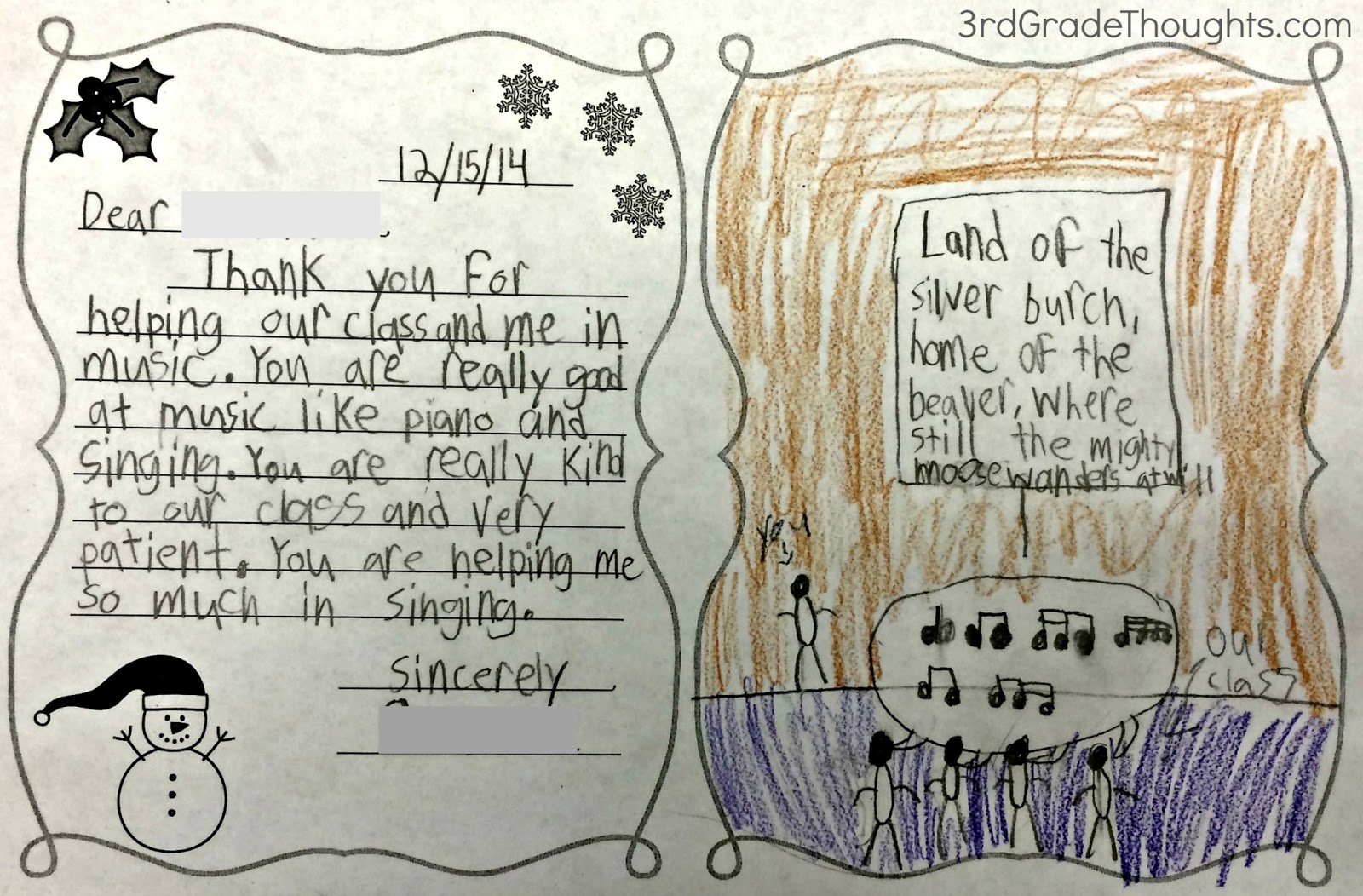Friendly letter writing with rack 3rd grade thoughts spiritdancerdesigns Gallery