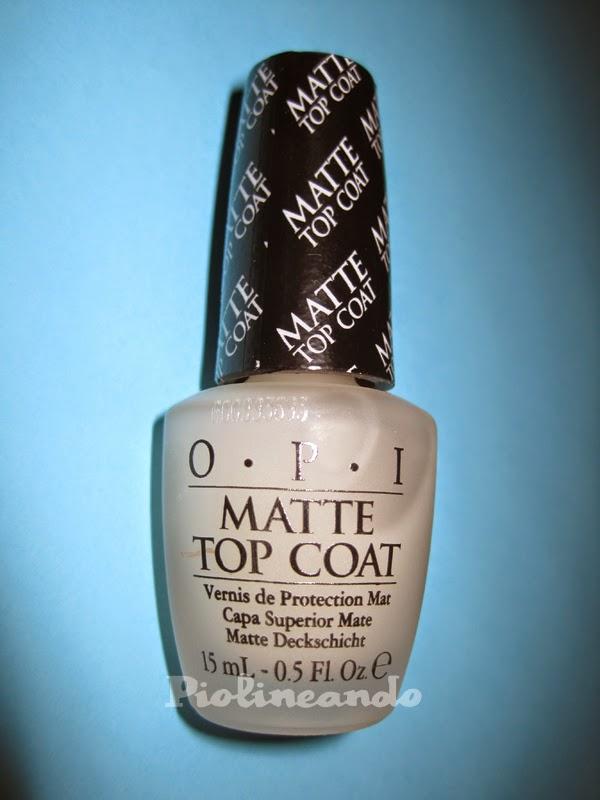 Beauty Blog by Susana: Review Top Coat Matte OPI