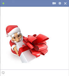 Santa Giving A Gift Emoticon