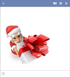 Facebook Santa Claus sticker presenting a gift