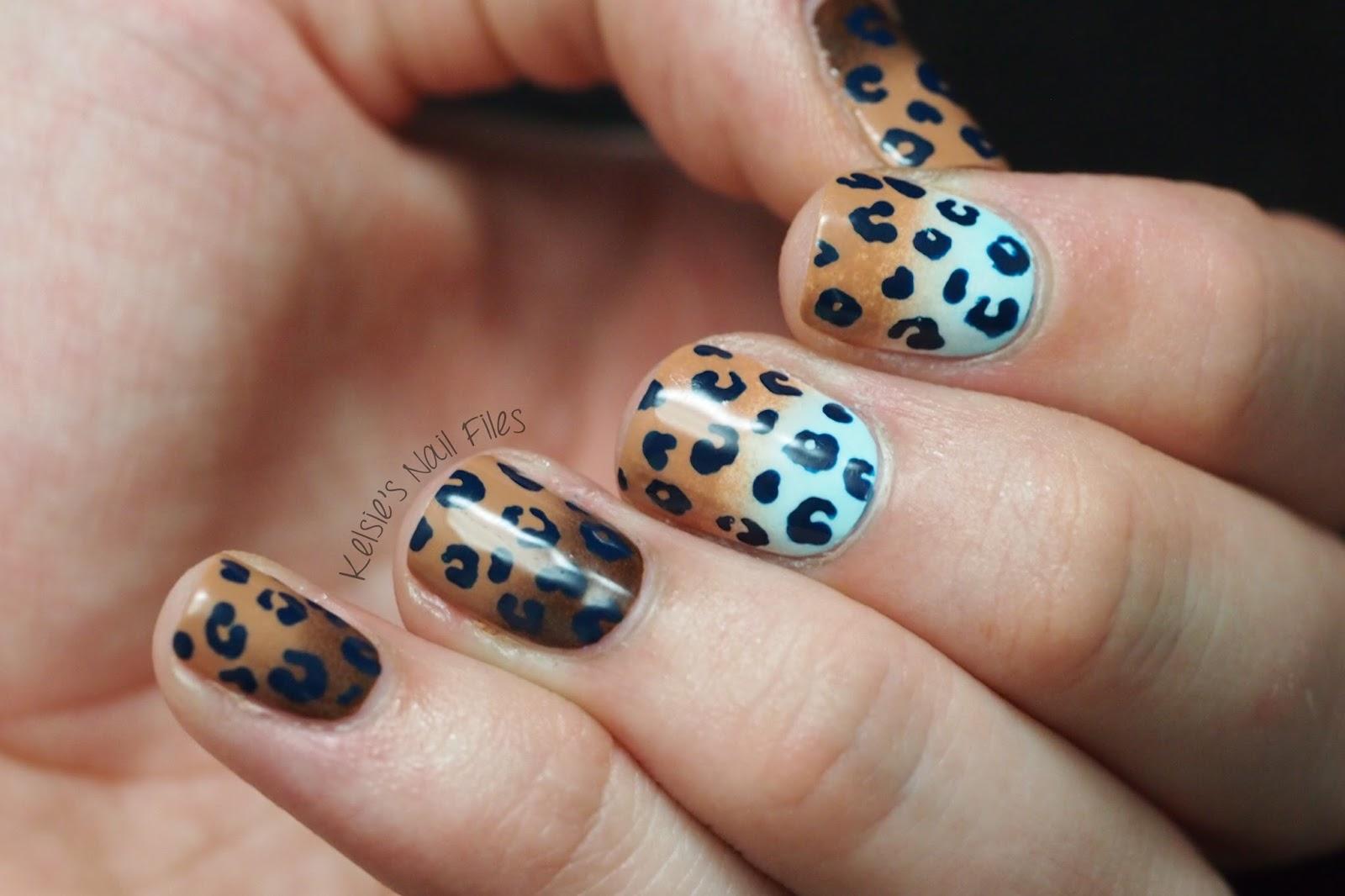Как сделать леопардовый принт на ногтях Маникюрный