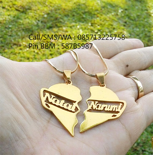 kalung nama couple lapis emas