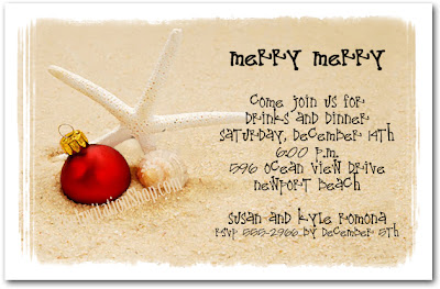 Click to shop the Starfish Beach Holiday Invitations