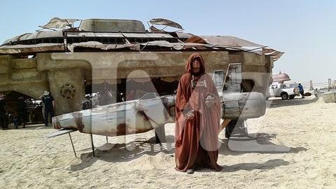 Land Speeder en las fotos del rodaje de Star Wars Ep. VII