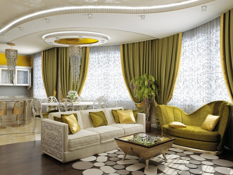 pop ceiling design for luxury living room - Living Room Ceiling Colors