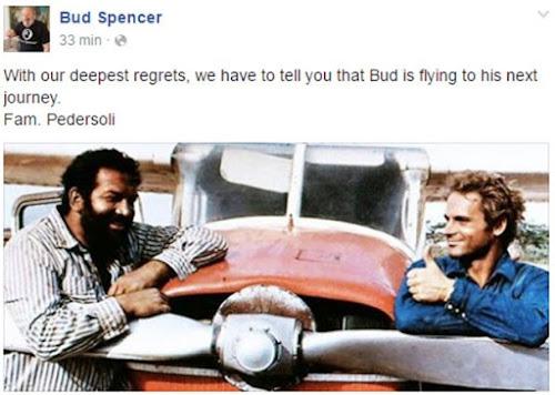 Morre aos 86 anos o ator Bud Spencer, parceiro de Terence Hill