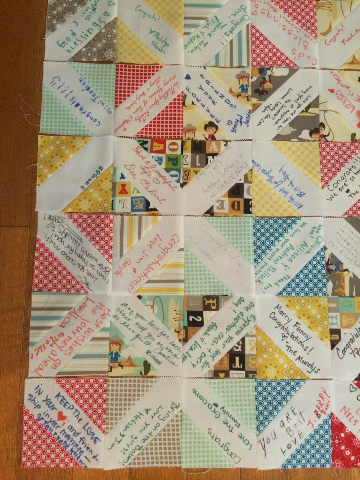 Quilts Books And Wine Wedding Guest Book Quilt