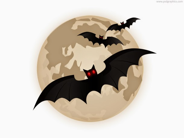 Flying Bats and Moon Icon