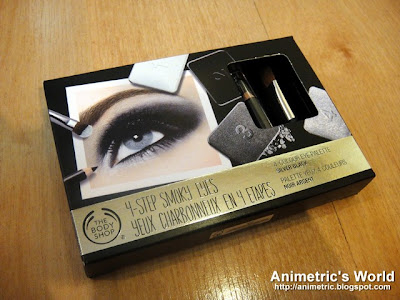 The Body Shop 4-Step Smoky Eyes in Silver Black
