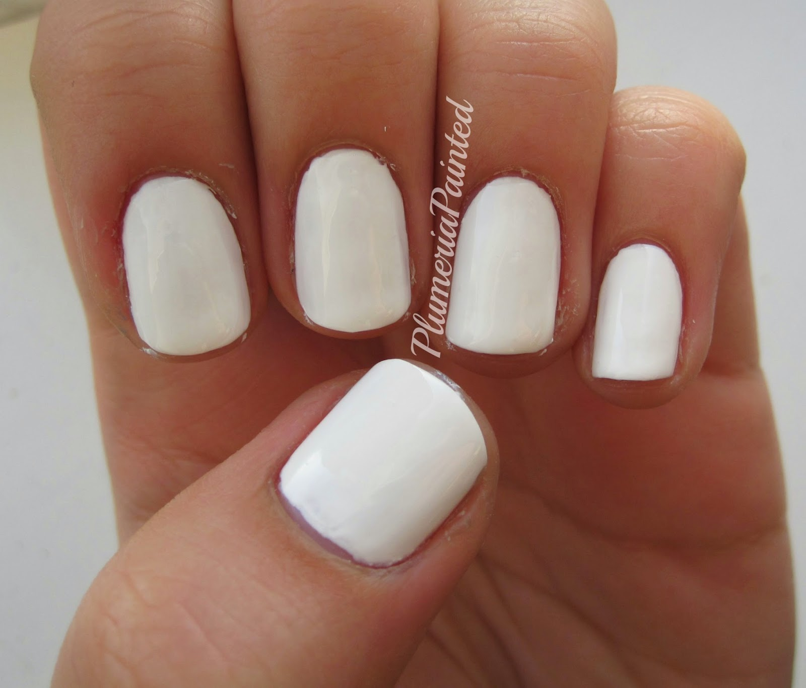 PlumeriaPainted: White Nails: Barry M - Cotton