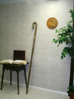 picture of Laurel's staff on wall