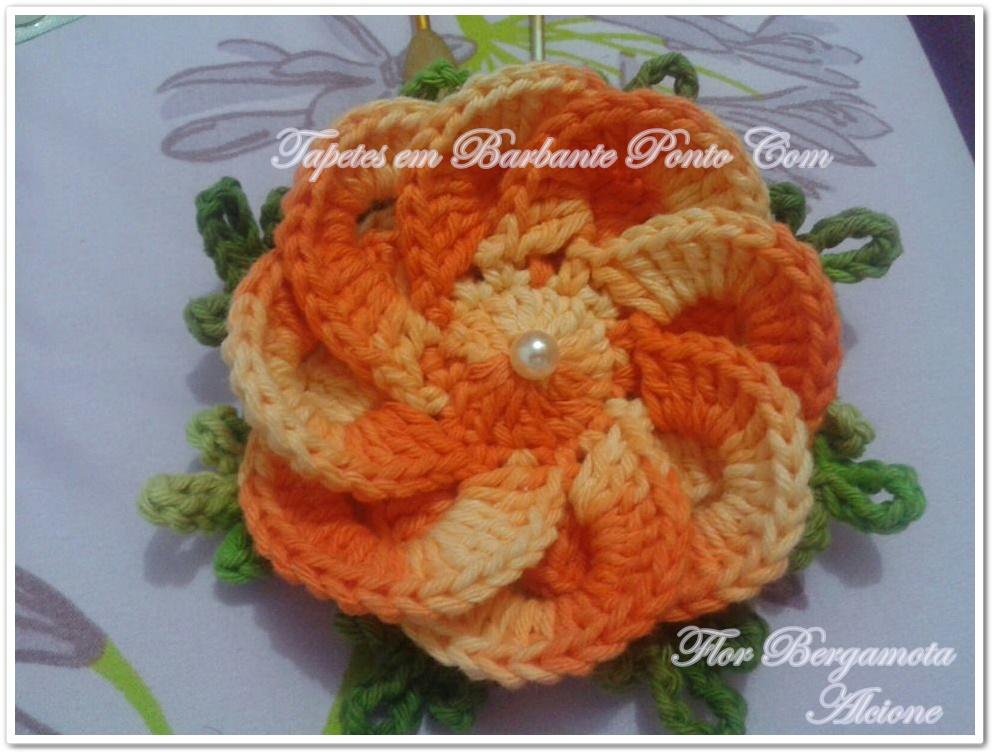 Tapetes em Barbante Ponto Com: Flores novas Marcelo Nunes