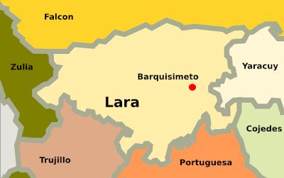 Mapa del estado Lara Venezuela