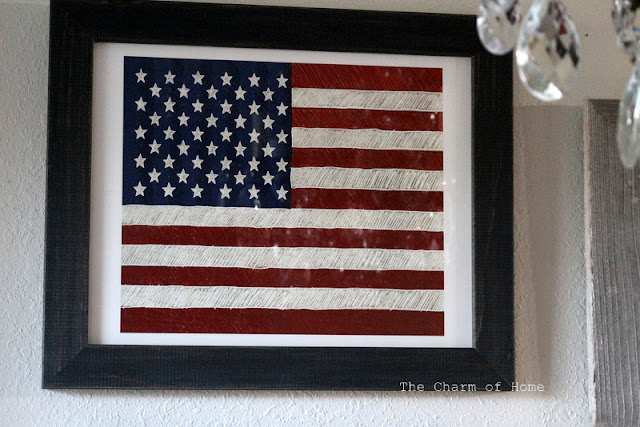 Minted Art: Rustic Flag