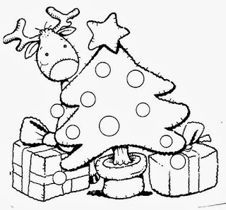 Arbol de Navidad para Colorear, parte 2