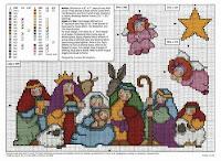 100 gráficos para bordados de natal parte 6