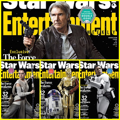 Os Personagens do Filme Star Wars – O Despertar da Força para Revista Entertainment Weekly.