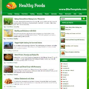 Healthy Food blogger template.