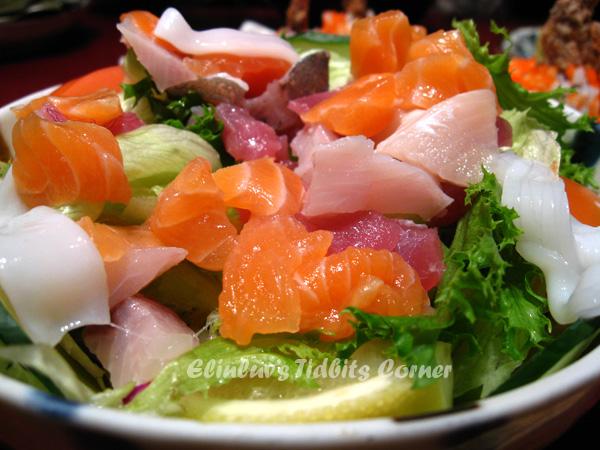 Elinluv 39 s tidbits corner wild boar 39 s day sushi zanmai for Sashimi dressing