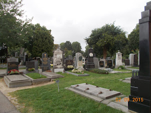 A view of a part of the 2.4 Km Zentralfriedhof  cemetery in Vienna.