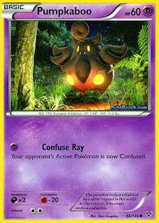 Pumpkaboo Pokemon X and Y Card