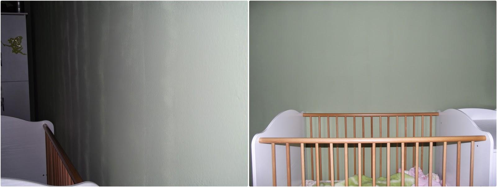Festés után csíkos a fal