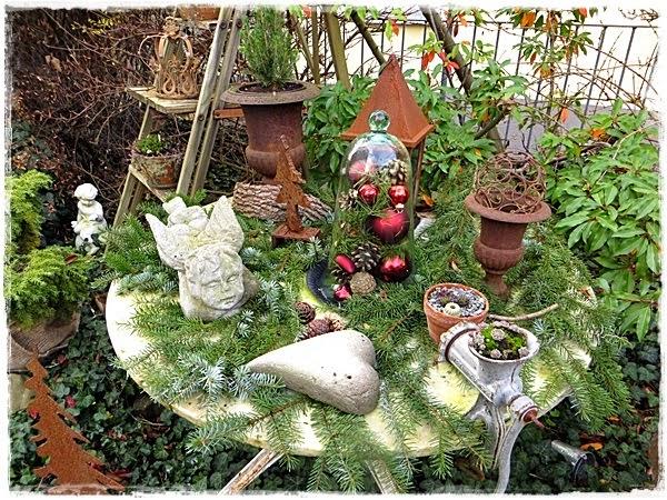 Neues vom lindenhof gartenzauber im advent - Winterdeko garten ...