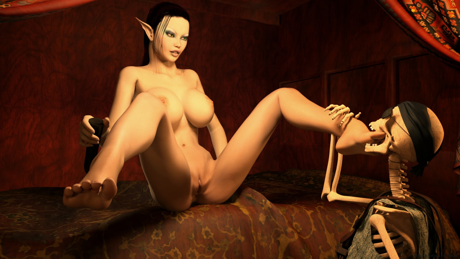 Wild sex orgy with nurse 3d