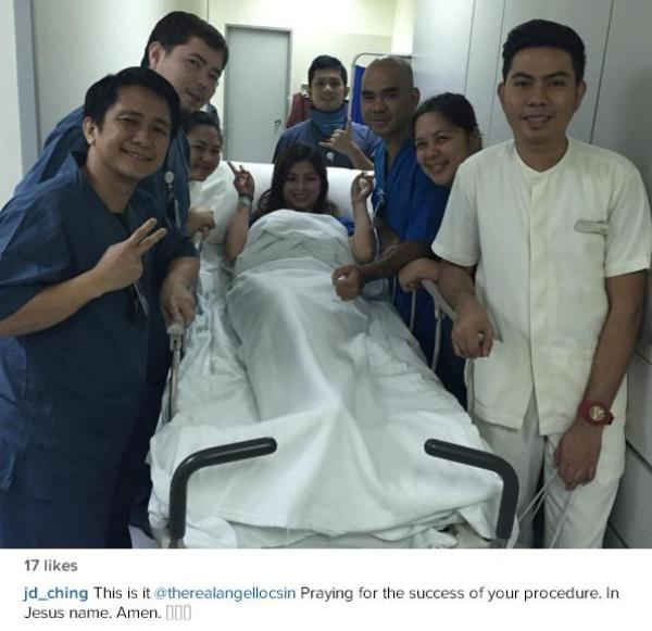 Angel Locsin undergoes spine procedure in Singapore