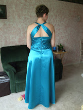 My Turquoise Satin Dress