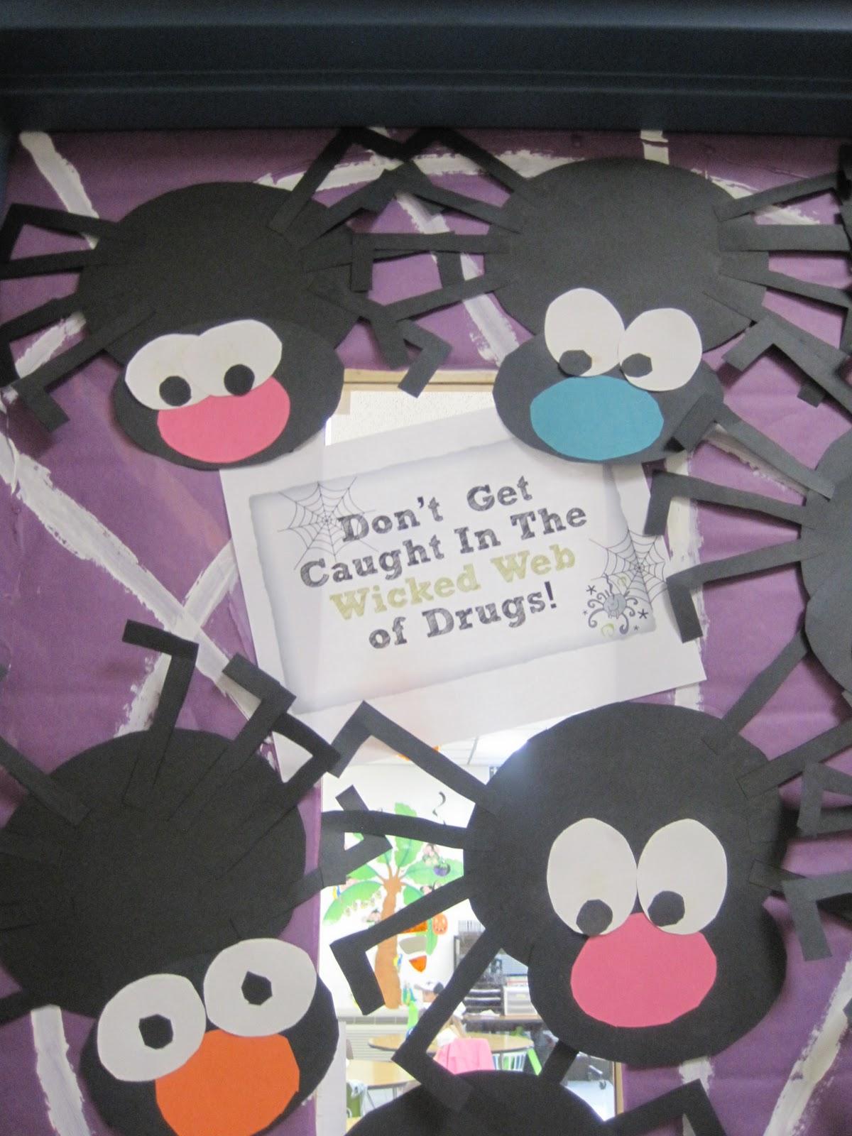 Halloween classroom door decorations ideas - Halloween Door Decorating Contest Winners Bulletin Board Ideas Halloween Drug Free Door Decorating Ideas