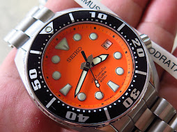 SEIKO DIVER SUMO ORANGE DIAL WITH BRACELET - SEIKO SBDC005 - AUTOMATIC 6R15 -FULLSET BOX AND PAPERS