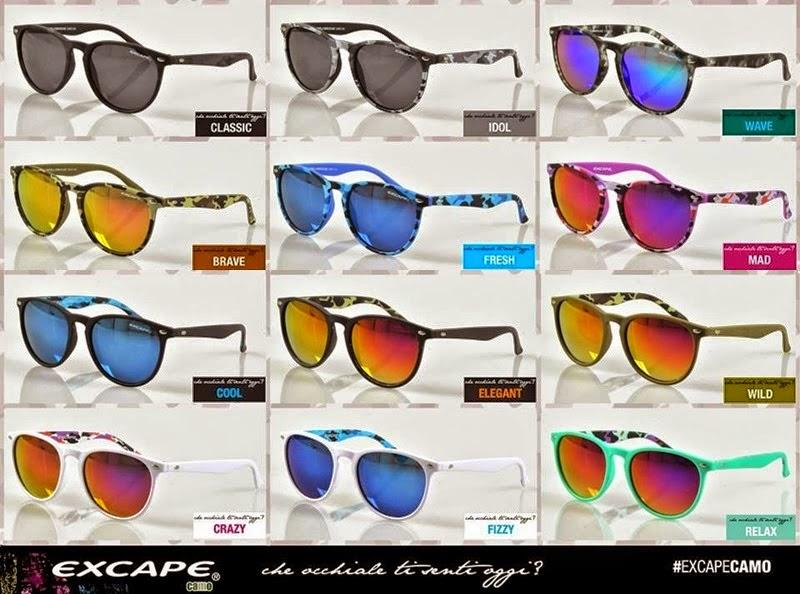 Il blog di manu excape gli occhiali da sole colorati e di tendenza - Occhiali lenti colorate a specchio ...