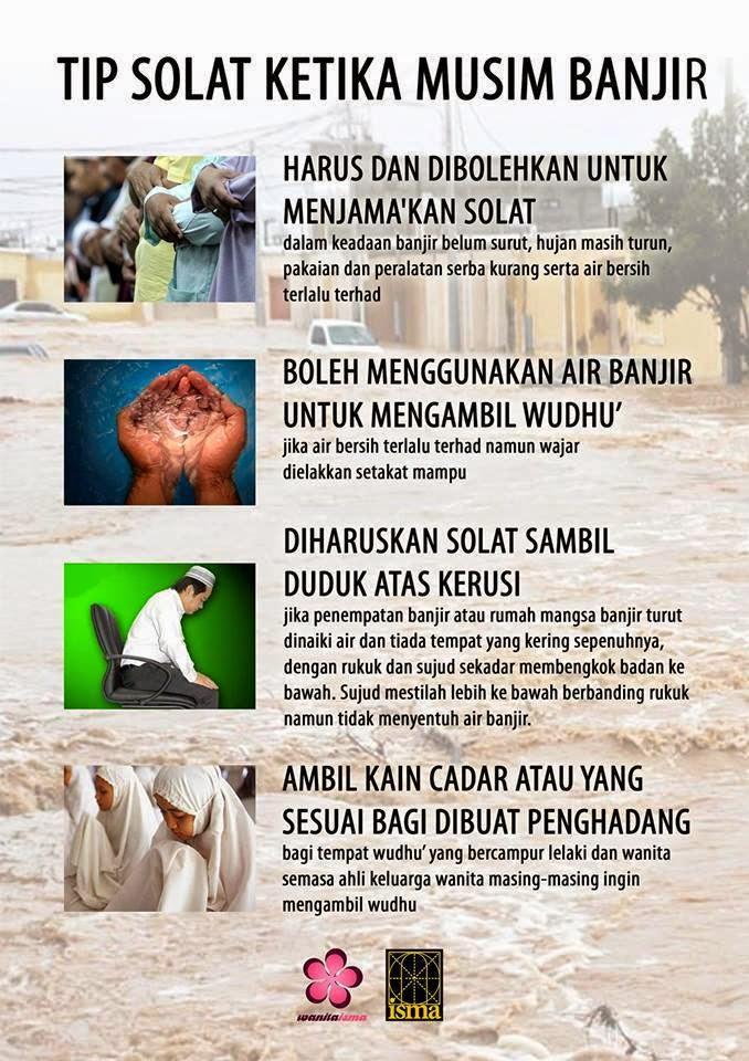 Tips Solat Ketika Musim Banjir, banjir