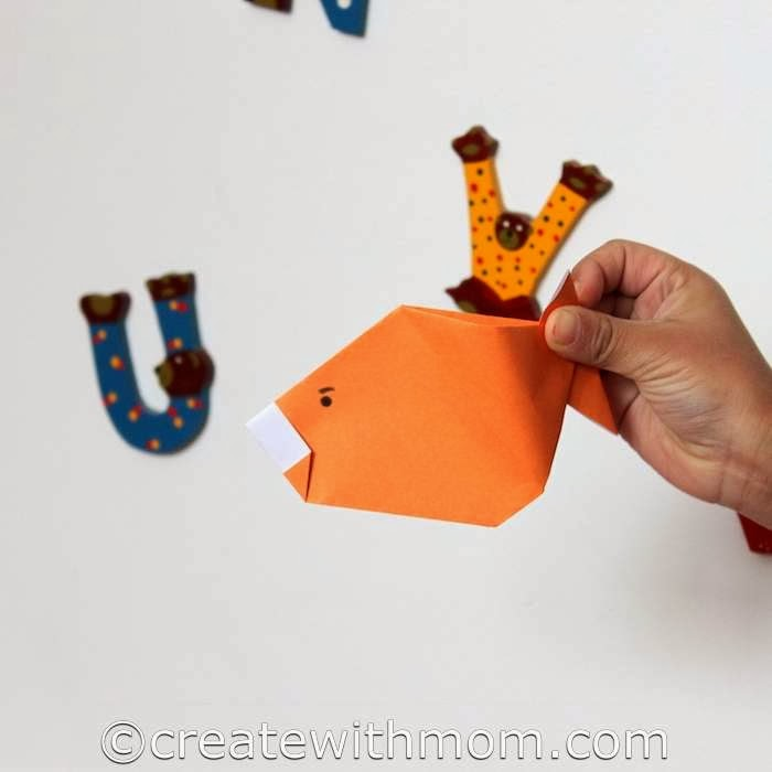 Create With Mom Origami Toys Fish And Bird