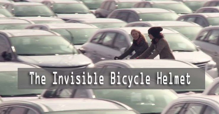 These girls created an invisible bike helmet - The Invisible Bicycle Helmet