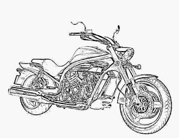 coloring pages of motorcycles - photo#26