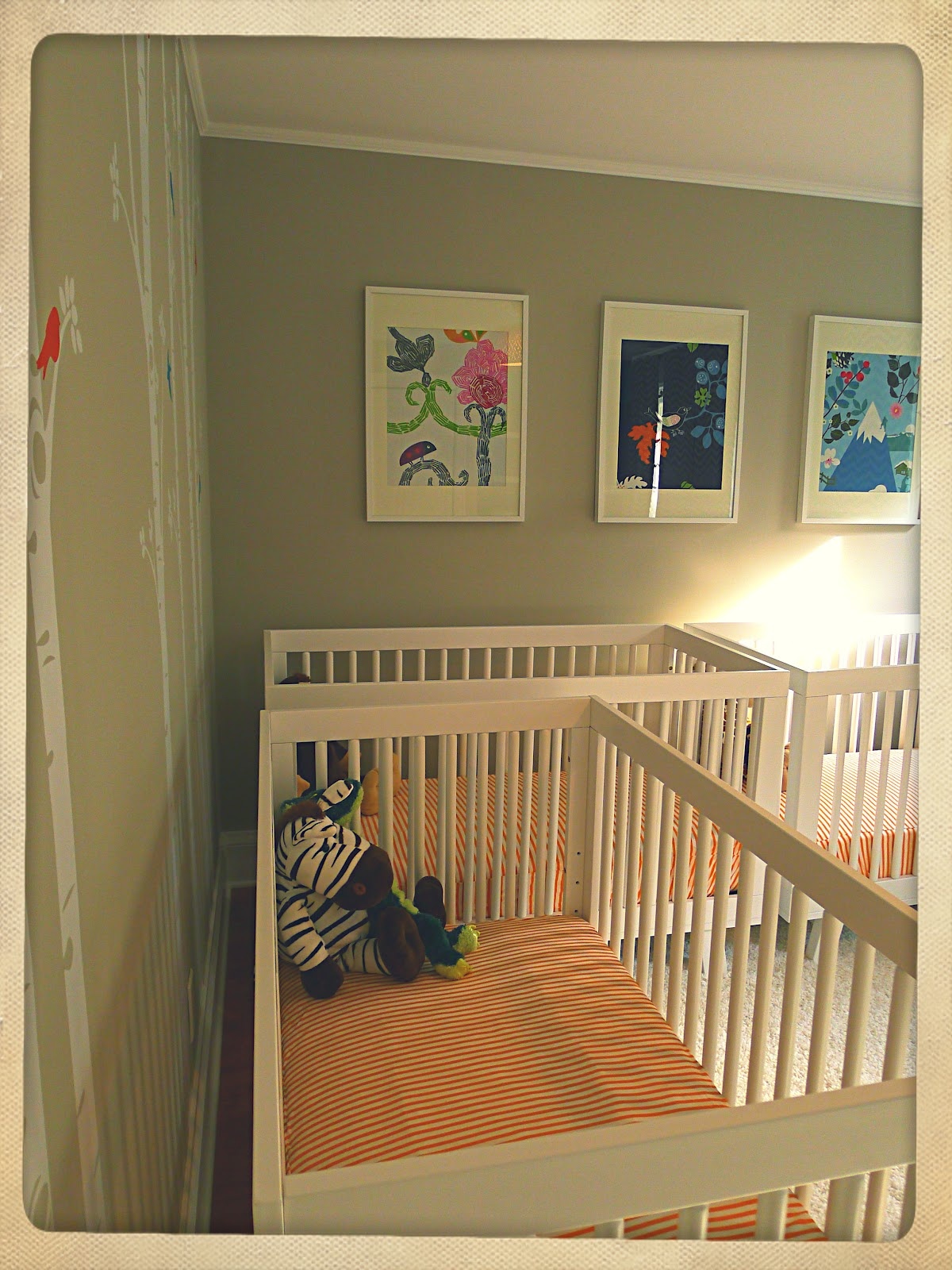 Crib for triplet babies - The Triplets New Digs
