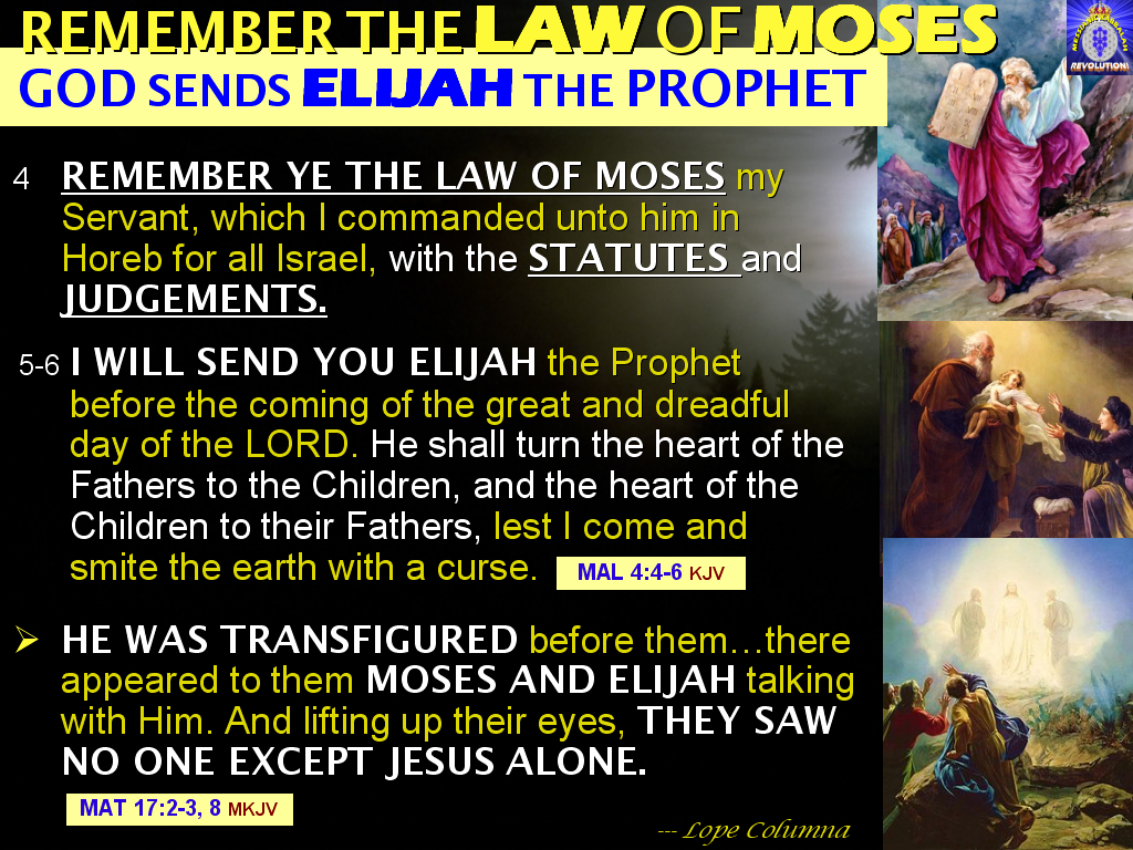 christ above elijah and moses essay After six days jesus took peter, james, and john with him and led  and there  appeared before them elijah and moses, who were talking with jesus  nothing  is easier for christians who have become over-familiar with the.