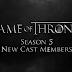 Anunciado novo elenco da 5ª temporada de Game of Thrones