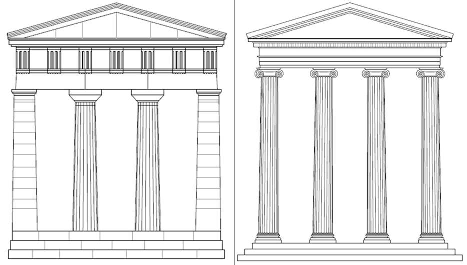 Εξερευνήστε την αρχαία ελληνική αρχιτεκτονική των ναών