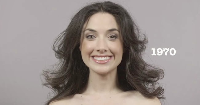 The far out 1970s. - A Video Breaks Down 100 Years Of Beauty Trends In One Minute
