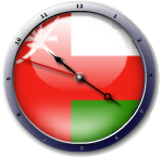 علم عمان  Oman flag clock