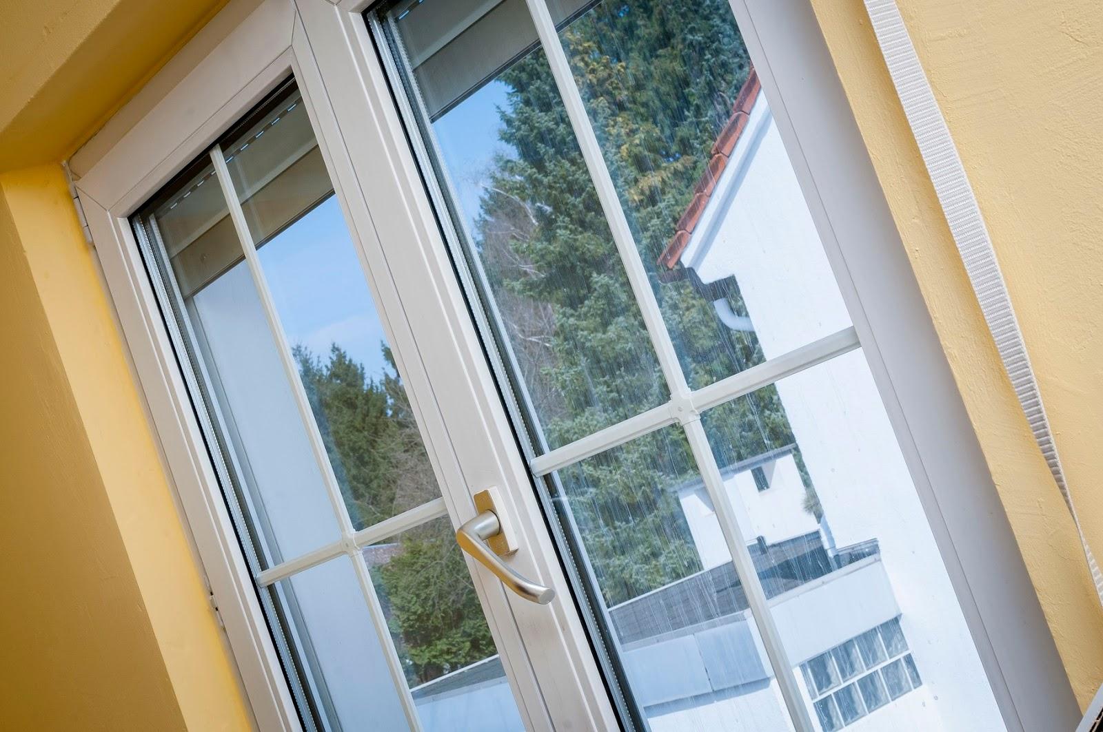 Die frisch geputzten Fensterscheiben