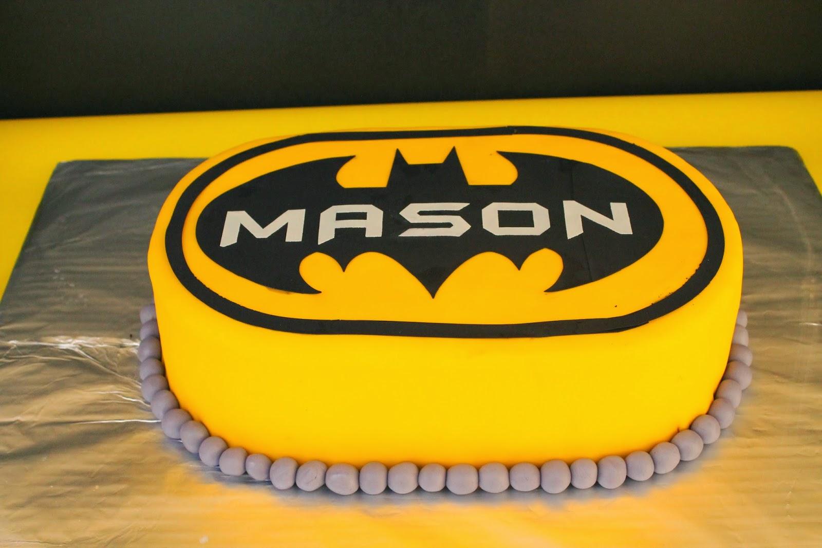 Sarah Leavitts Cakes Mason S 3rd Birthday Batman
