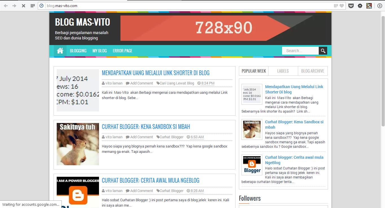 Blog Mas-Vito: Tempatnya Tutorial dan Berbagi pengalaman mengenai Blogger